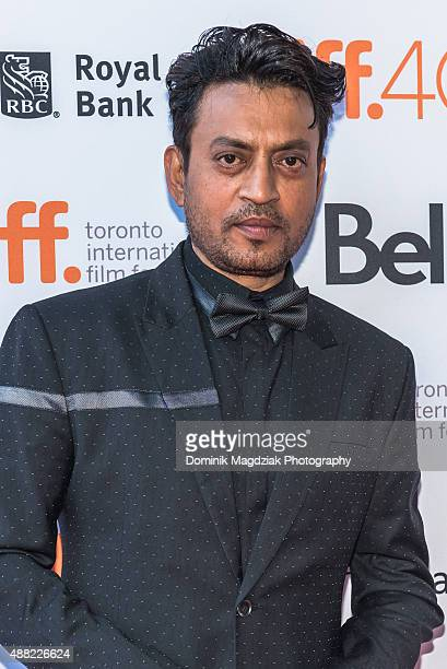 Actor Irrfan khan attends the 'Guilty' photo call during the Toronto International Film Festival at the Ryerson Theatre on September 14 2015 in...