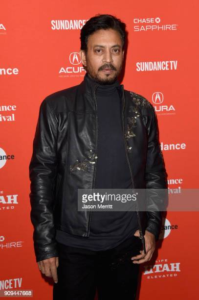 Actor Irrfan Khan attends the Puzzle Premiere at Eccles Center Theatre during the 2018 Sundance Film Festival on January 23 2018 in Park City Utah
