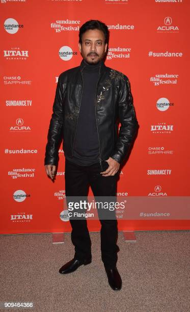 Actor Irrfan Khan attends the 'Puzzle' Premiere at Eccles Center Theatre during the 2018 Sundance Film Festival on January 23 2018 in Park City Utah