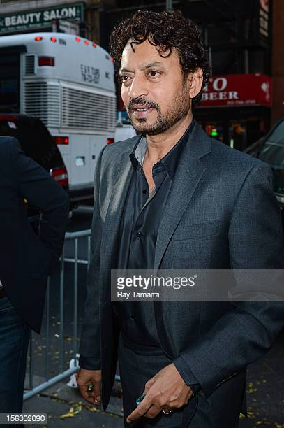"""Actor Irrfan Khan enters the """"Today Show"""" taping at the NBC Rockefeller Center Studios on November 12, 2012 in New York City."""
