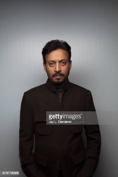 Actor Irrfan Khan from the film 'Puzzle' is photographed for Los Angeles Times on January 22 2018 in the LA Times Studio at Chase Sapphire on Main...