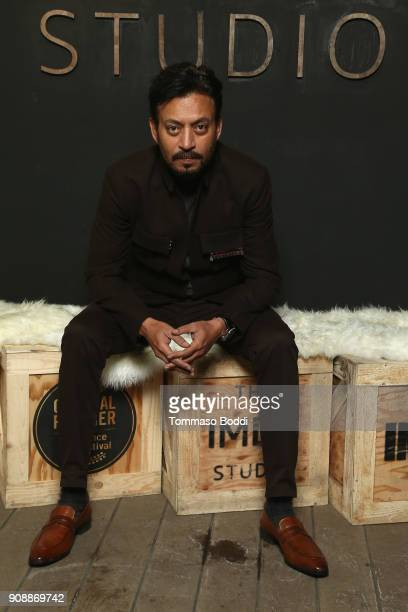 Actor Irrfan Khan of 'Puzzle' attends The IMDb Studio and The IMDb Show on Location at The Sundance Film Festival on January 22 2018 in Park City Utah