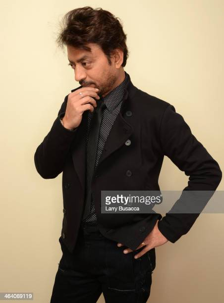 Actor Irrfan Khan poses for a portrait during the 2014 Sundance Film Festival at the Getty Images Portrait Studio at the Village At The Lift...