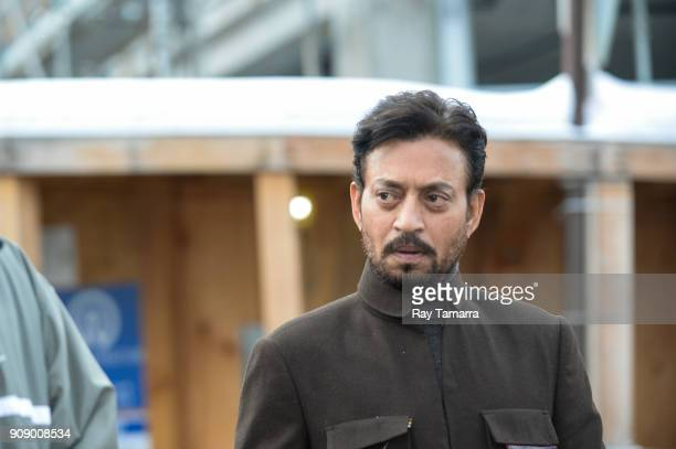 Actor Irrfan Khan walks in Park City on January 22 2018 in Park City Utah