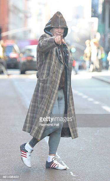 Actor is Mickey Rourke is seen in soho on January 13 2015 in New York City