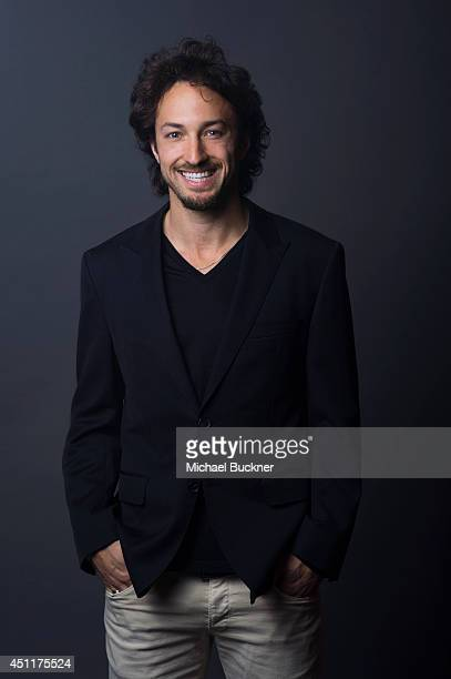 Actor is photographed at the City of Lights City of Angeles French film festival portrait studio on April 21 2014 in Los Angeles California