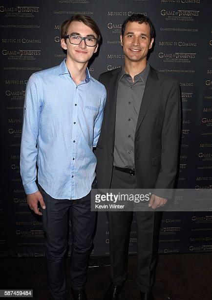 Actor Isaac Hempstead Wright and composer Ramin Djawadi attend the announcement of the Game of Thrones® Live Concert Experience featuring composer...