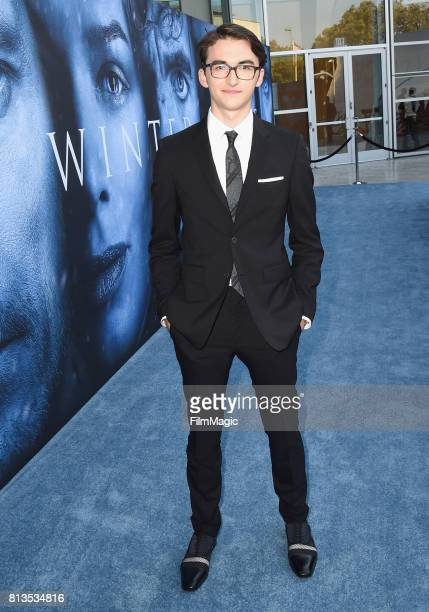 Actor Isaac Hempstead Wright at the Los Angeles Premiere for the seventh season of HBO's Game Of Thrones at Walt Disney Concert Hall on July 12 2017...