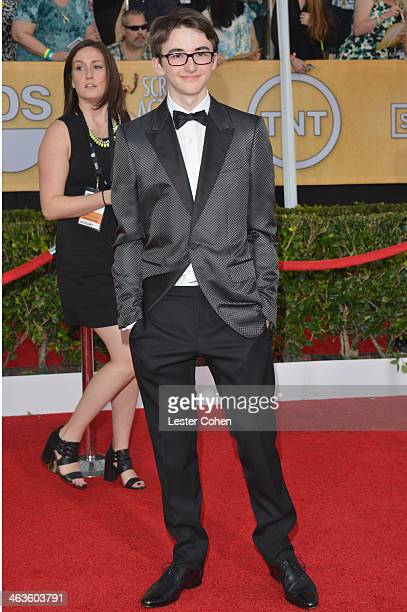 Actor Isaac Hempstead Wright attends the 20th Annual Screen Actors Guild Awards at The Shrine Auditorium on January 18 2014 in Los Angeles California