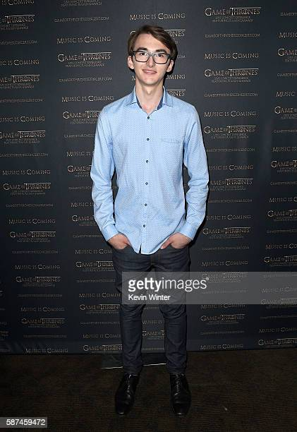 Actor Isaac Hempstead Wright attends the announcement of the Game of Thrones® Live Concert Experience featuring composer Ramin Djawadi at the...