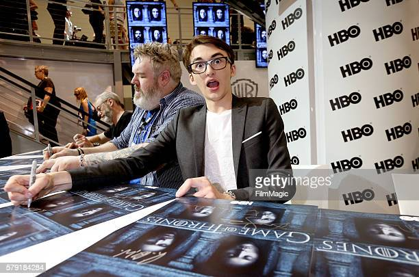 Actor Isaac Hempstead Wright attends the 'Game of Thrones' autograph signing during ComicCon International 2016 at San Diego Convention Center on...