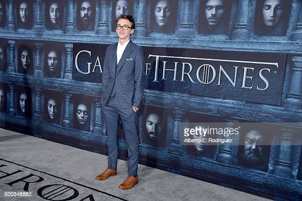 Actor Isaac Hempstead Wright attends the premiere of HBO's 'Game Of Thrones' Season 6 at TCL Chinese Theatre on April 10 2016 in Hollywood California