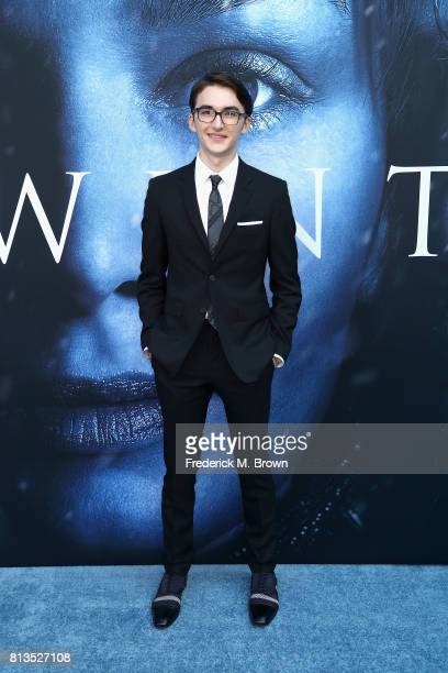 Actor Isaac Hempstead Wright attends the premiere of HBO's 'Game Of Thrones' season 7 at Walt Disney Concert Hall on July 12 2017 in Los Angeles...