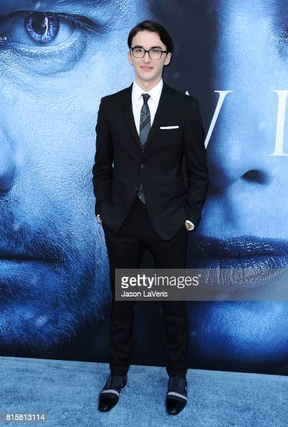 Actor Isaac Hempstead Wright attends the season 7 premiere of Game Of Thrones at Walt Disney Concert Hall on July 12 2017 in Los Angeles California