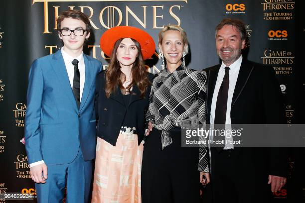 Actor Isaac HempsteadWright Actress Carice Van Houten Costume Designer Michele Clapton and Actor Ian Beattie attend Game Of Thrones The Touring...