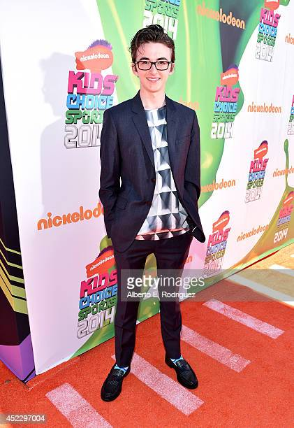 Actor Isaac HempsteadWright attends Nickelodeon Kids' Choice Sports Awards 2014 at UCLA's Pauley Pavilion on July 17 2014 in Los Angeles California