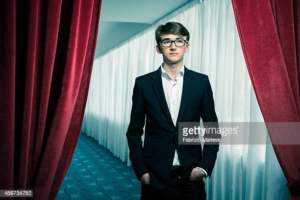 Actor Isaac HempsteadWright is photographed for Self Assignment on September 1 2014 in Venice Italy