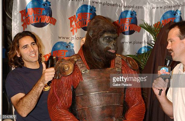 Actor Isaac Singleton in Gorilla Warrior costume and makeup presented an Apes Commander costume from the 20th Century Fox film 'Planet Of The Apes'...