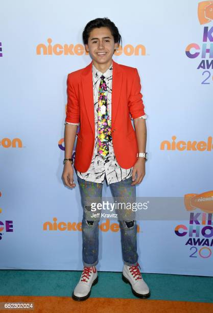 Actor Isaak Presley at Nickelodeon's 2017 Kids' Choice Awards at USC Galen Center on March 11 2017 in Los Angeles California