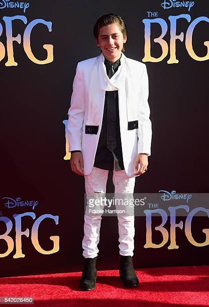 Actor Isaak Presley attends Disney's The BFG premiere at the El Capitan Theatre on June 21 2016 in Hollywood California