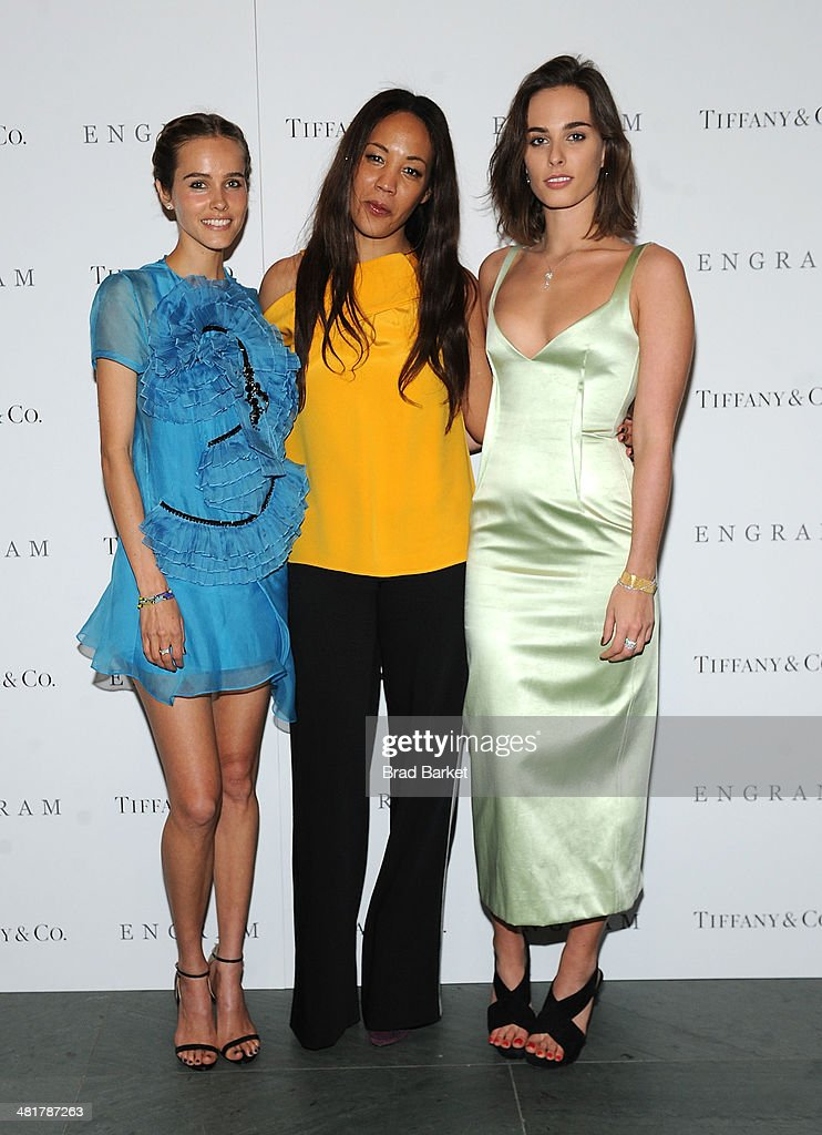 Actor Isabel Lucas, Maggie Betts and Sophie Auster attend the 'ENGRAM' screening at Museum of Modern Art on March 31, 2014 in New York City.