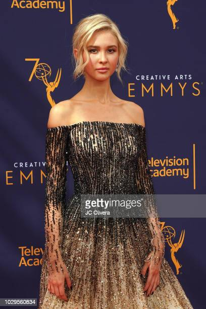 Actor Isabel May attends the 2018 Creative Arts Emmy Awards at Microsoft Theater on September 8 2018 in Los Angeles California