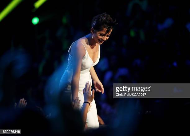 Actor Isabela Moner speaks onstage at Nickelodeon's 2017 Kids' Choice Awards at USC Galen Center on March 11 2017 in Los Angeles California