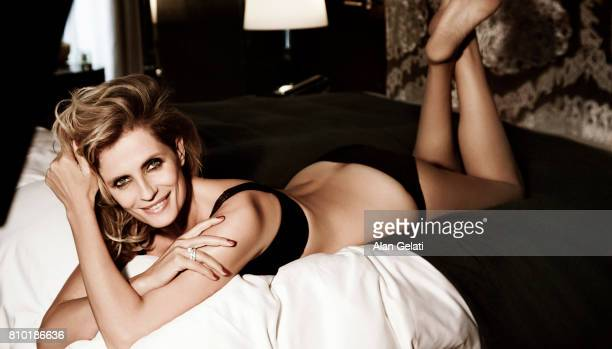 Actor Isabella Ferrari is photographed for Vanity Fair on July 3 2012 in Milan Italy