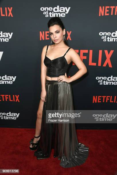 Actor Isabella Gomez attends the premiere of Netflix's One Day At A Time Season 2 at ArcLight Hollywood on January 24 2018 in Hollywood California