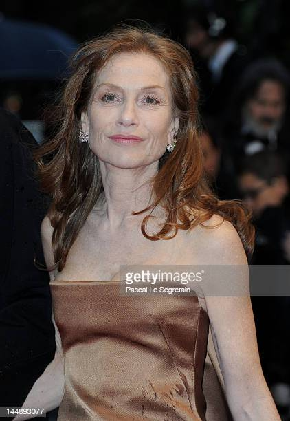 """Actor Isabelle Huppert attends the """"Amour"""" premiere during the 65th Annual Cannes Film Festival at Palais des Festivals on May 20, 2012 in Cannes,..."""
