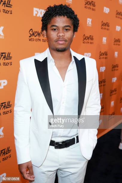 Actor Isaiah John attends the premiere of FX's Snowfall at The Theatre at Ace Hotel on June 26 2017 in Los Angeles California