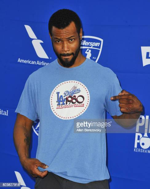 Actor Isaiah Mustafa attends the 5th Annual Ping Pong 4 Purpose on July 27 2017 in Los Angeles California