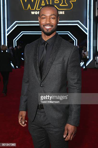 Actor Isaiah Mustafa attends the premiere of Walt Disney Pictures and Lucasfilm's Star Wars The Force Awakens at the Dolby Theatre on December 14th...