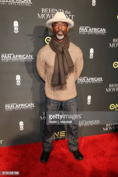 Actor Isaiah Washington attends Behind The Movement Red Carpet Event at Cinemark Baldwin Hills Crenshaw Plaza 15 on February 9 2018 in Los Angeles...