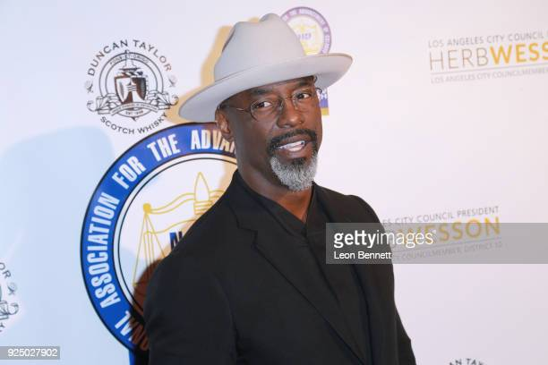 Actor Isaiah Washington attends the 27th Annual NAACP Theatre Awards at Millennium Biltmore Hotel on February 26 2018 in Los Angeles California