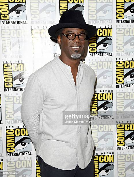 Actor Isaiah Washington attends the The 100 press room during ComicCon International 2015 at the Hilton Bayfront on July 10 2015 in San Diego...