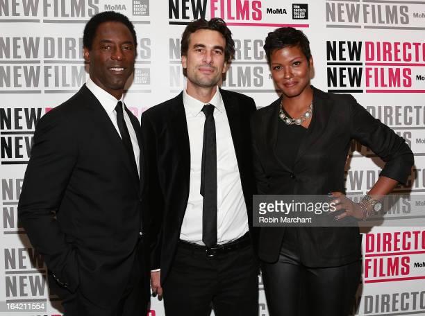 Actor Isaiah Washington Director Alexandre Moors and Actress Cassandra Freeman attend the New Directors/New Films 2013 Opening Night screening of...