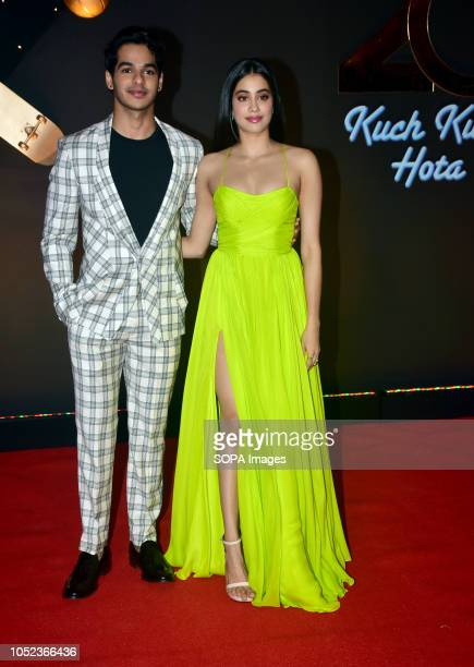 Actor Ishaan Khatter with Janhvi Kapoor attend the 20th anniversary celebration of film 'Kuch Kuch Hota Hai' at hotel JW Marriott Juhu in Mumbai