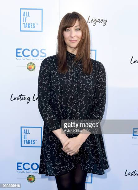 Actor Isidora Goreshter attends the All It Takes Lasting Legacy event at the headquarters of Earth Friendly Products to celebrate youth leadership on...
