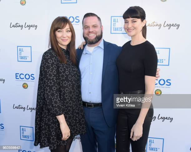 Actor Isidora Goreshter guest and actor Shailene Woodley attend the All It Takes Lasting Legacy event at the headquarters of Earth Friendly Products...