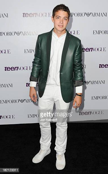 Actor Israel Broussard arrives at the 2013 Teen Vogue Young Hollywood Awards on September 27 2013 in Los Angeles California