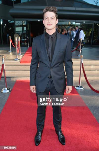 Actor Israel Broussard arrives to the Los Angeles premiere of A24's The Bling Ring at Directors Guild Of America on June 4 2013 in Los Angeles...