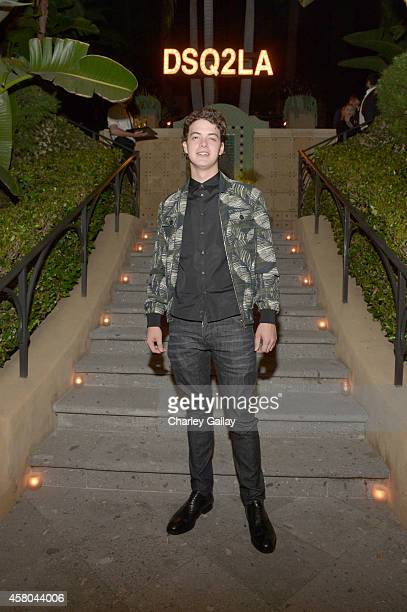 Actor Israel Broussard attends Dsquared2 celebrates first boutique in the USA with Pommery Champagne on October 28 2014 in Los Angeles California