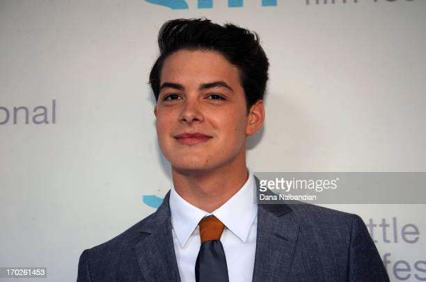 """Actor Israel Broussard attends Seattle International Film Festival premiere of """"The Bling Ring"""" at Cinerama Theater on June 9, 2013 in Seattle,..."""