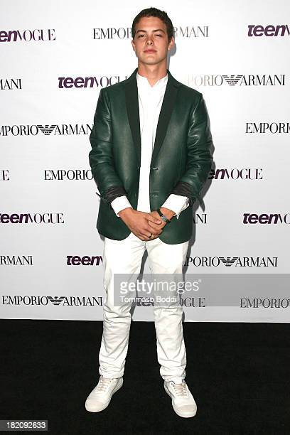 Actor Israel Broussard attends the 11th Annual Teen Vogue Young Hollywood Party With Emporio Armani on September 27, 2013 in Los Angeles, California.