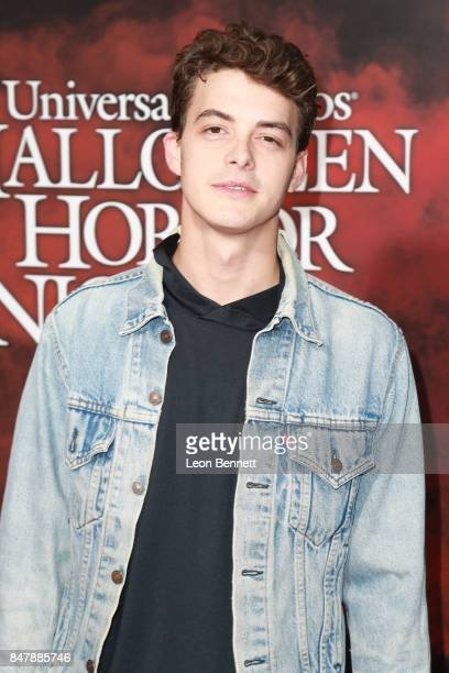 Actor Israel Broussard attends Universal Studios Halloween Horror Nights Opening Night Arrivals at Universal Studios Hollywood on September 15 2017...