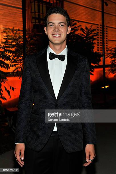 Actor Israel Broussard, wearing Ferragamo, attends the Wallis Annenberg Center for the Performing Arts Inaugural Gala presented by Salvatore...