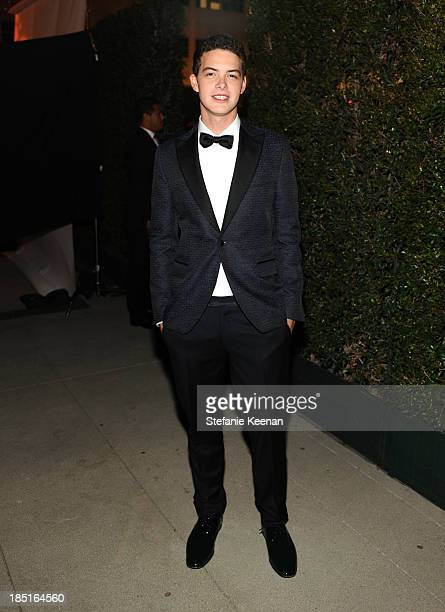 Actor Israel Broussard, wearing Ferragamo, , wearing Ferragamo, attends the Wallis Annenberg Center for the Performing Arts Inaugural Gala presented...