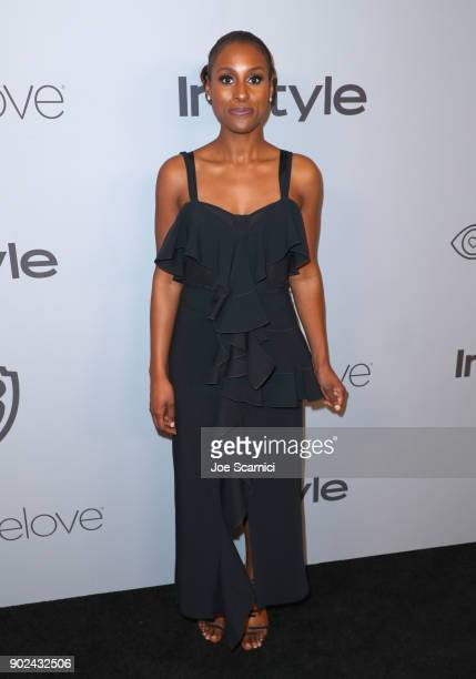 Actor Issa Rae attends the 2018 InStyle and Warner Bros 75th Annual Golden Globe Awards PostParty at The Beverly Hilton Hotel on January 7 2018 in...