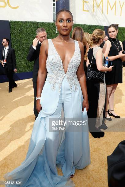 Actor Issa Rae attends the 70th Annual Primetime Emmy Awards at Microsoft Theater on September 17 2018 in Los Angeles California